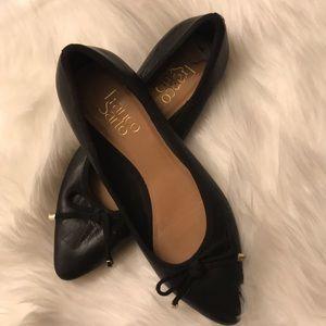 Franco Sarto sexy black flats with toe bows